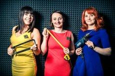 Majsterki czyli: (od lewej) Basia, Alicja i Sylwia - piękne i uzbrojone