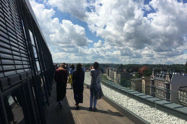 Dach gdańskiej siedziby firmy LPP.