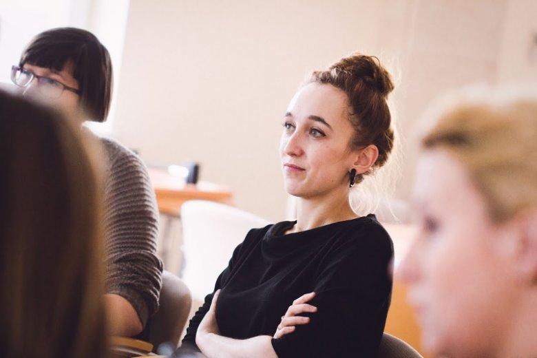 Anna Krawczyk na zjeździe sieci bibliotekarskiej LABiB