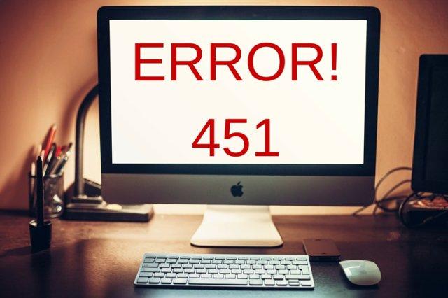 Już wkrótce, gdy będziemy przeglądać internet, ujrzymy nowy kod błędu. Jest on wyznacznikiem współczesnych czasów, w których wszystko podlega kontroli, a absolutna wolność jest tylko mitem