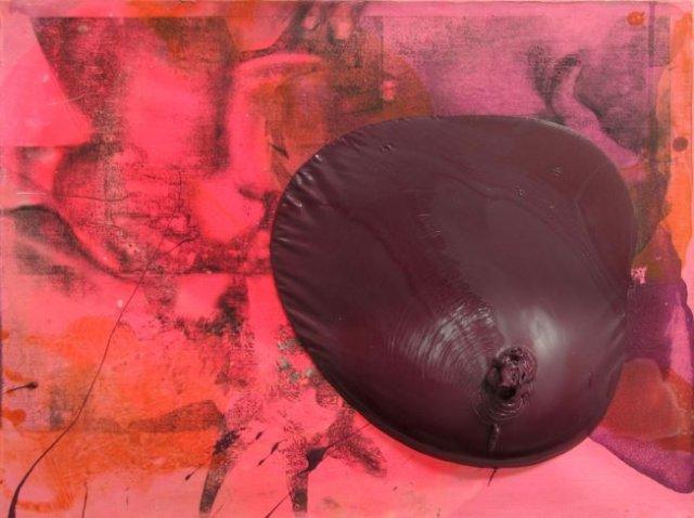 SSIJ, obraz w technice mieszanej na płótnie, Izabela Chamczyk