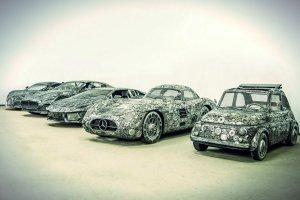 Kolekcja aut w pruszkowskiej galerii.