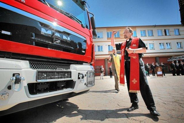 Wozy strażackie kupione dzięki funduszom unijnym.