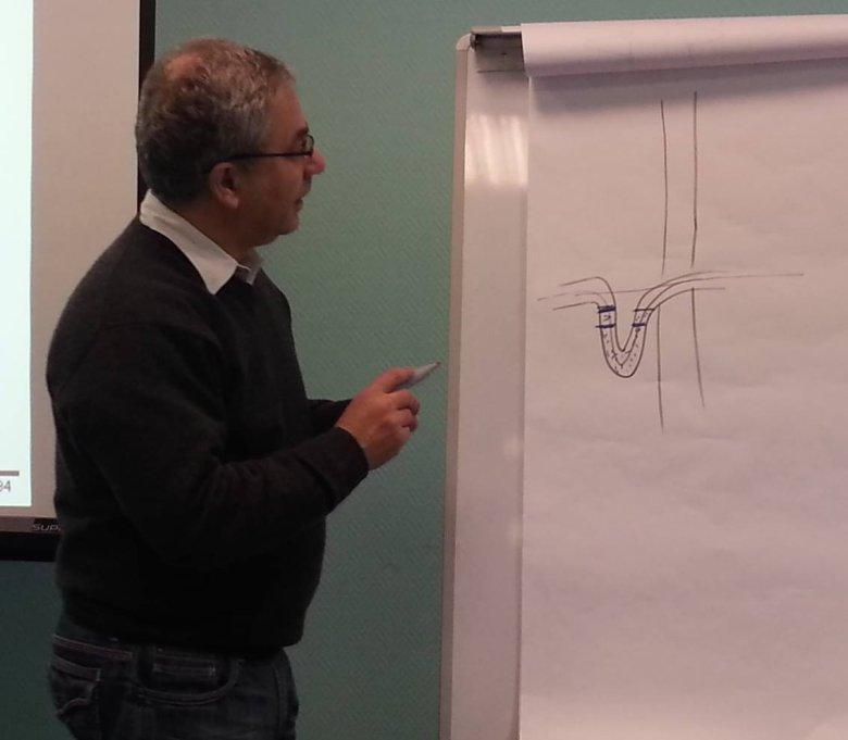 Twórca GTI, Greg Yezersky, w trakcie warsztatu rozwiązywania problemów