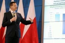 Wicepremier Mateusz Morawiecki podczas prezentacji założeń strategii odpowiedzialnego rozwoju.