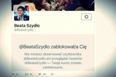 Beata Szydło zablokowała ostatnio kilku dziennikarzy z różnych redakcji.