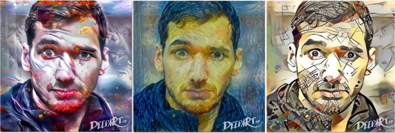 Porównanie efektów wykorzystania trzech różnych stylów przy submisji identycznego zdjęcia wyjściowego