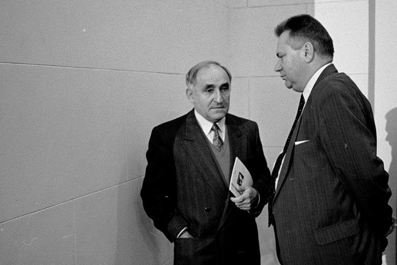 Mieczysław Wilczek i Ireneusz Sekuła w 1990 r.