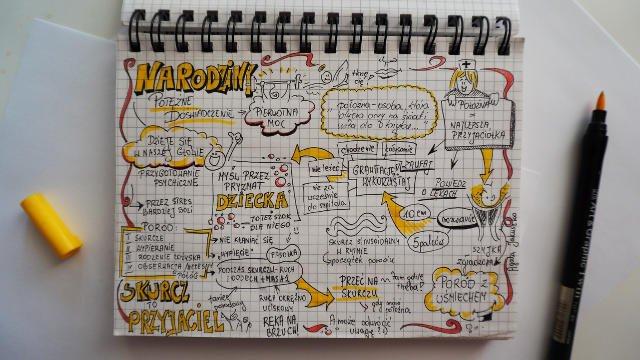 Notatki wizualne Agaty Jakuszko ułatwiają porządkowanie myśli