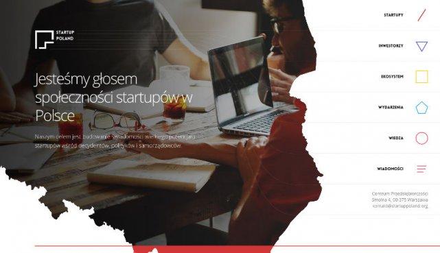Nowy wygląd strony Fundacji Startup Poland. Z czasem mają pojawić się tam profile większości polskich startupów.