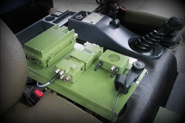 Przykładowa instalacja radiostacji przewoźnej