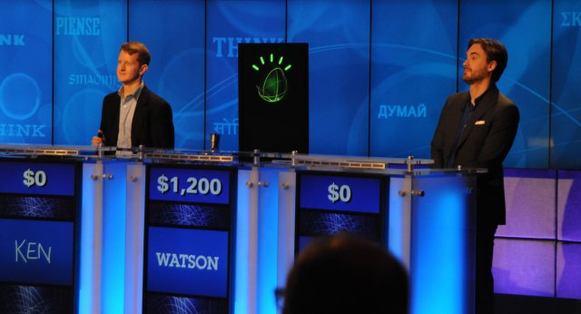 IBM Watson at Jeopardy contest.