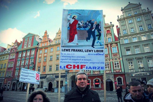 Protest frankowiczów w Śzczecinie.