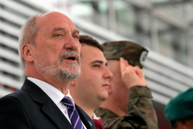 Minister obrony narodowej Antoni Macierewicz.