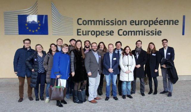 Spotkanie reprezentantów organizacji startupowych w Komisji Europejskiej. Działa tam ogólnounijna instytucja Allied For Startups.