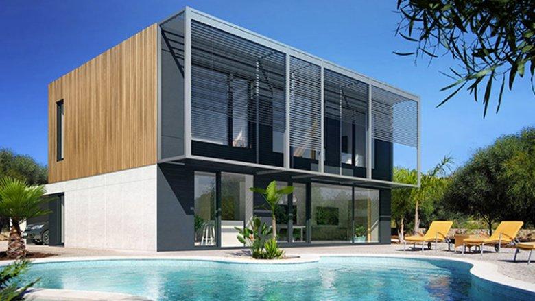 Przykład domu wybudowanego w technologii Eco Smart. H6 to budynek mieszkalny, którego kondygnacje wytyczają granicę między jego częścią dzienną i nocną