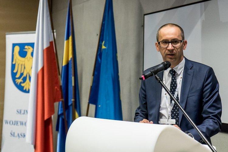 Wystąpienie Kazimierza Karolczaka przed ceremonią podpisania umowy