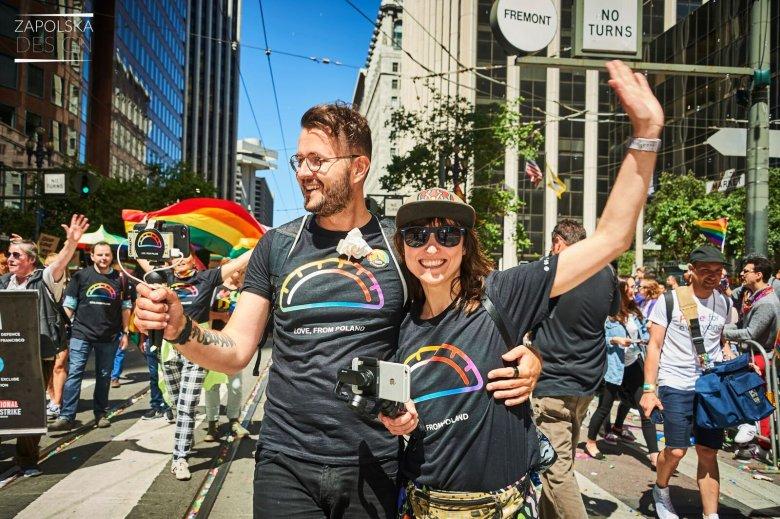 Organizatorzy: Paweł Długosz i Ania Troszkiewicz; SFPride 2017