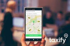 Interfejs Taxify nie różni się zbytnio od konkurencji.