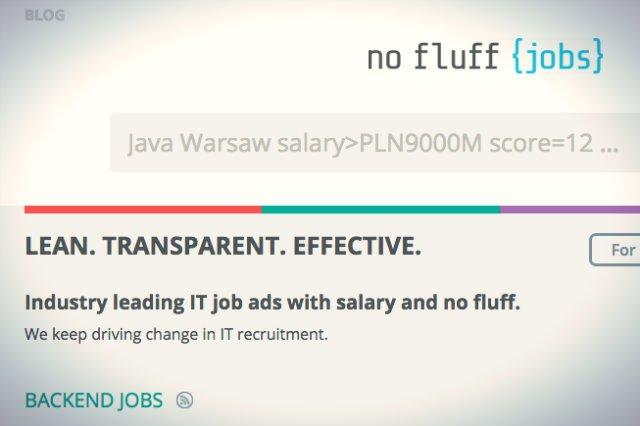 W No Fluff Jobs ogłoszenie bez podania widełek płacowych dla kandydatów nie przejdzie