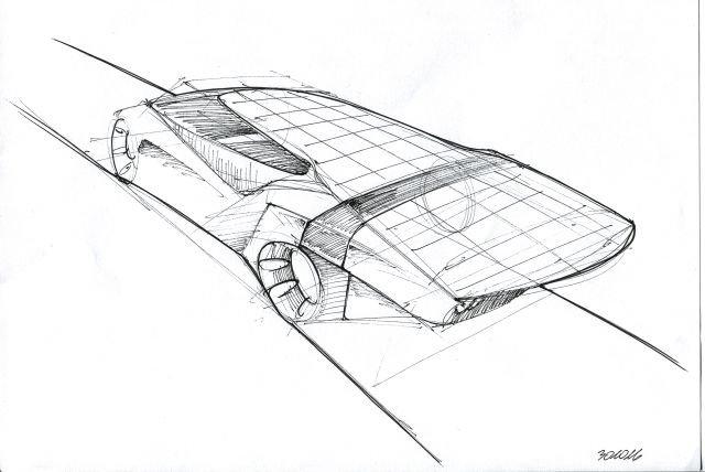 Projekt Eagle II - widok z tyłu