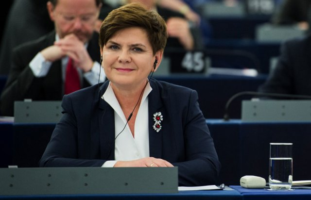 Premier Beata Szydło 19 stycznia w Strasburgu. Fot. P. Tracz/KPRM