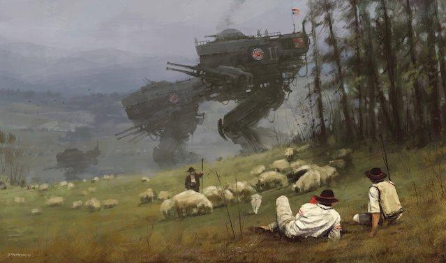 Świat Scythe to kontrast między polską wsią i technologią wziętą z zupełnie innych czasów.