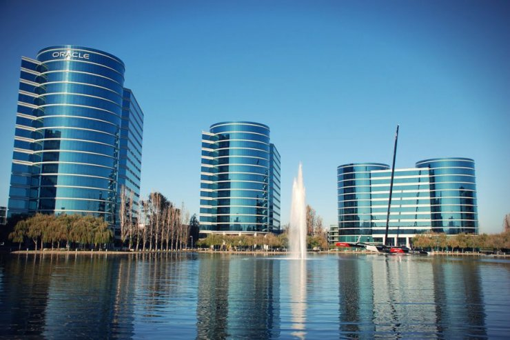 Kompleks budynków firmy Oracle.