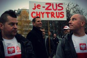 Protest małych i średnich przedsiębiorców przeciwko ZUS.
