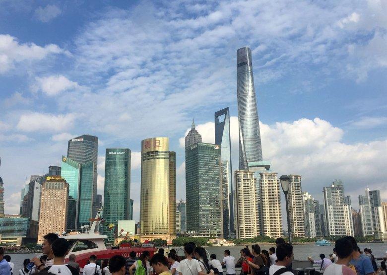 Widok na Pudong.