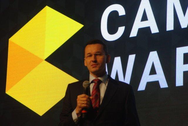 Mateusz Morawiecki na premierze Campus Warsaw