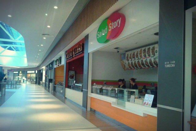 Salad Story możemy spotkać w większość galerii handlowych w Polsce