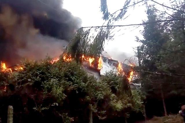 Pożar w zakładzie Olewników wybuchł w pierwszy dzień 2017 roku