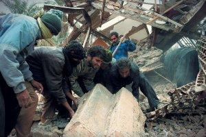 Miasto Bam w Iranie, zburzone w 90 proc. przez trzęsienie ziemi.