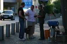 Polscy gastarbeiterzy na berlińskiej ulicy.