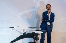 Artur Książek z Dron House i jego Bielik. Oprócz dronów konstruktor opracował system monitoringu lotów tych statków powietrznych.