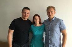 Zespół GetBadges – Krzysztof Hasiński, Justyna Wojtczak i Kamil Gumienny.