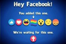 Post wzywający Facebooka do przycisku-krzyża zyskał dużą popularność.