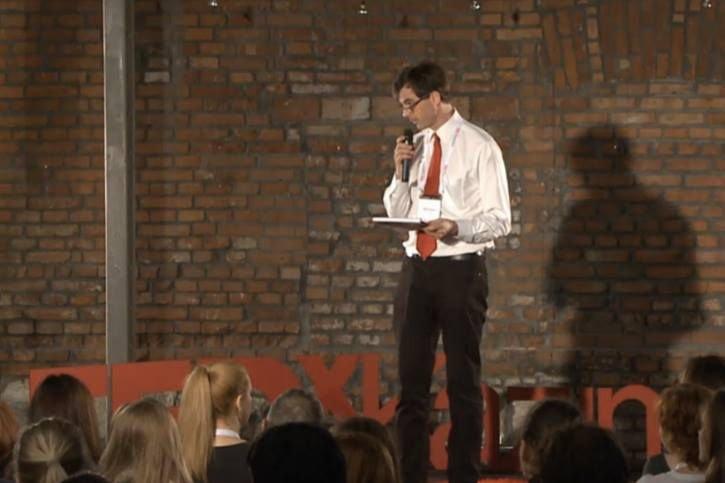Richard Lucas podczas TEDx Kazimierz.