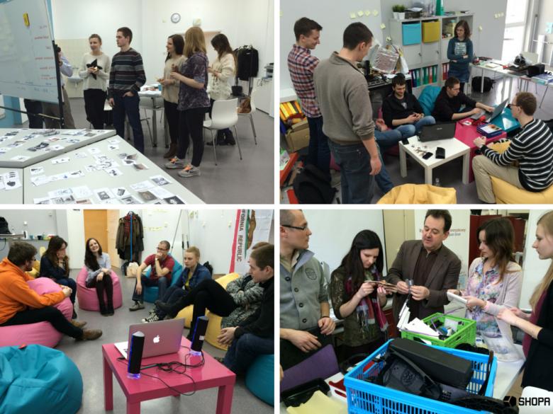 Praca zespołów projektowych design thinking