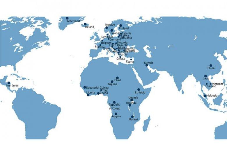 Mapa eksportu WISS