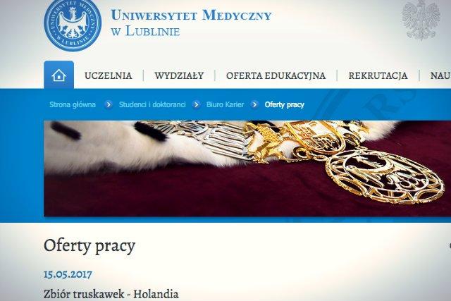 Sytuacja polskich lekarzy wchodzących na rynek pracy nie jest najlepsza, ale takiej szczerości od publicznego uniwersytetu chyba nikt się nie spodziewał