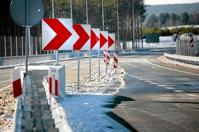 Droga w okolicach Wasilkowa, zbudowana dzięki funduszom unijnym.