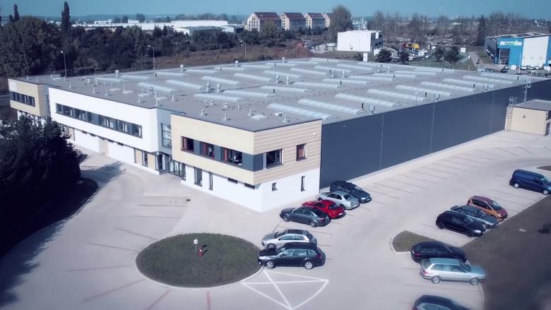 Fabryka wynajmowana przez Solgaz w Wałbrzyskiej Specjalnej Strefie Ekonomicznej.