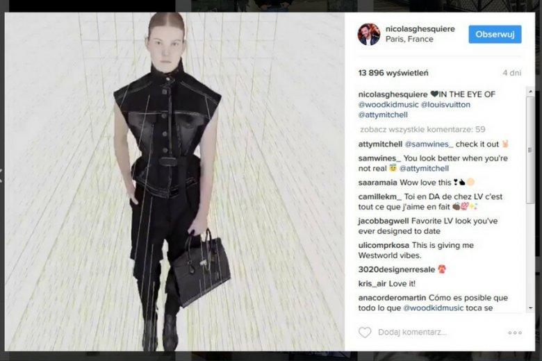Kadr z klipu promującego jesienno-zimową kolekcję Louis Vuitton.