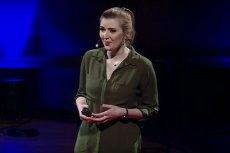 Anna Wysocka podczas występu na TEDxWarsaw