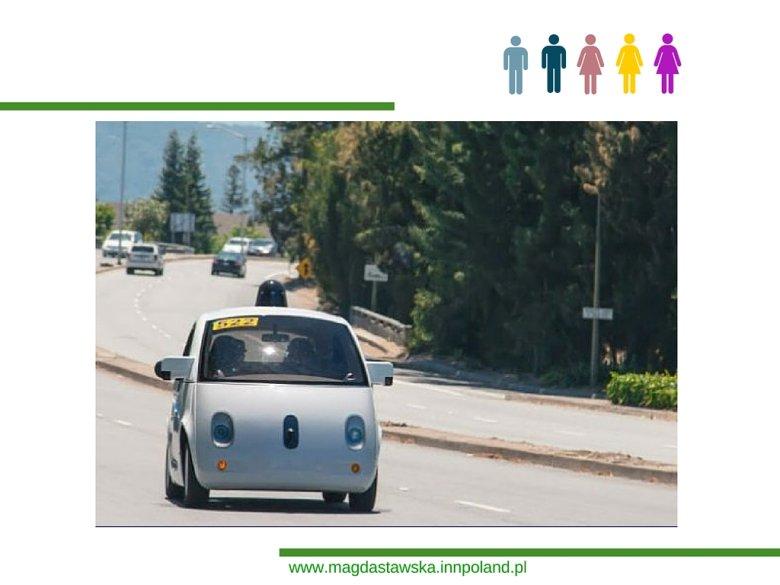 Samochód elektryczny na drodze w Kalifornii