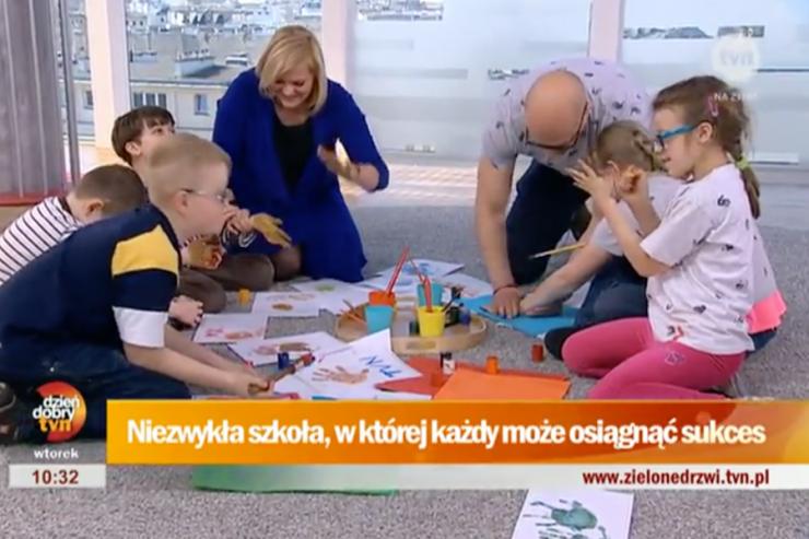 Dzieci z Tynieckiej w Dzień Dobry TVN.
