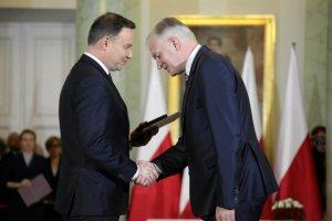 Prezydent Duda i minister nauki i szkolnictwa wyższego Jarosław Gowin.