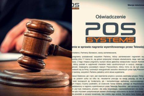 Oświadczenie firmy Pos Systems.